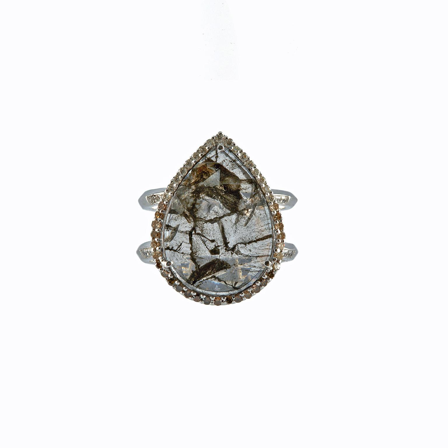 rachel Boston diamond slice ring