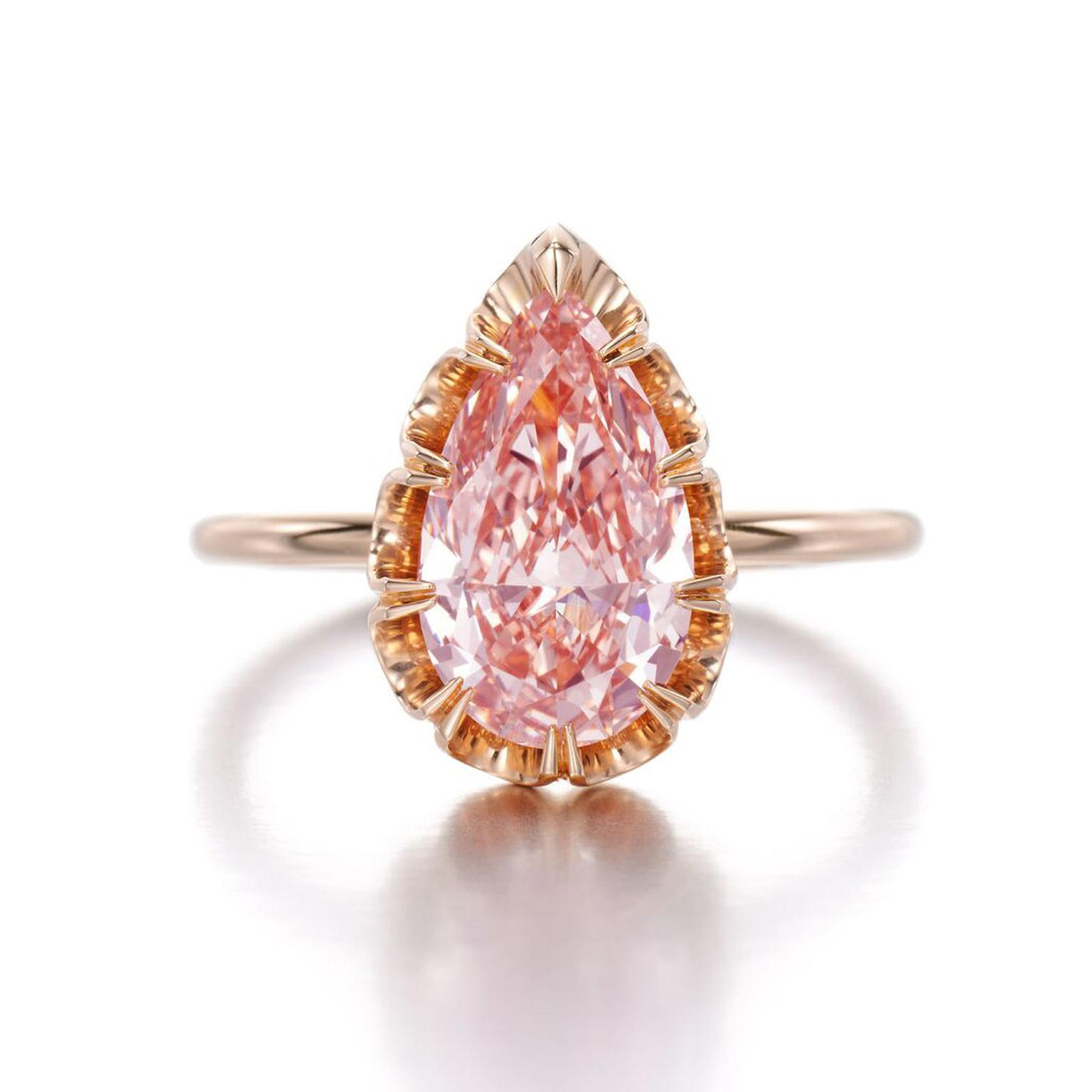 Jessica McCormack pink diamond ring