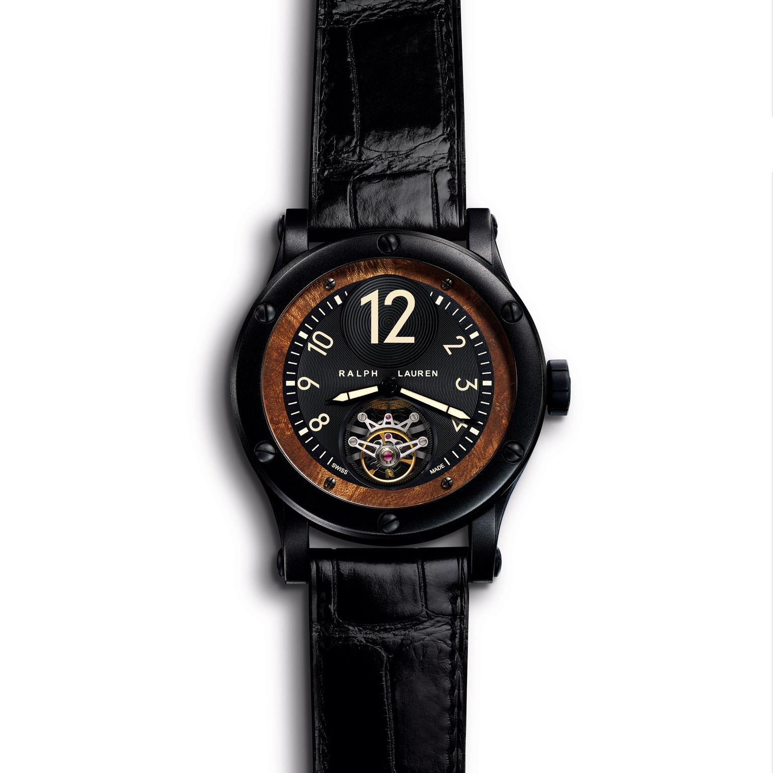RL67 45mm Black Safari Flying Tourbillon