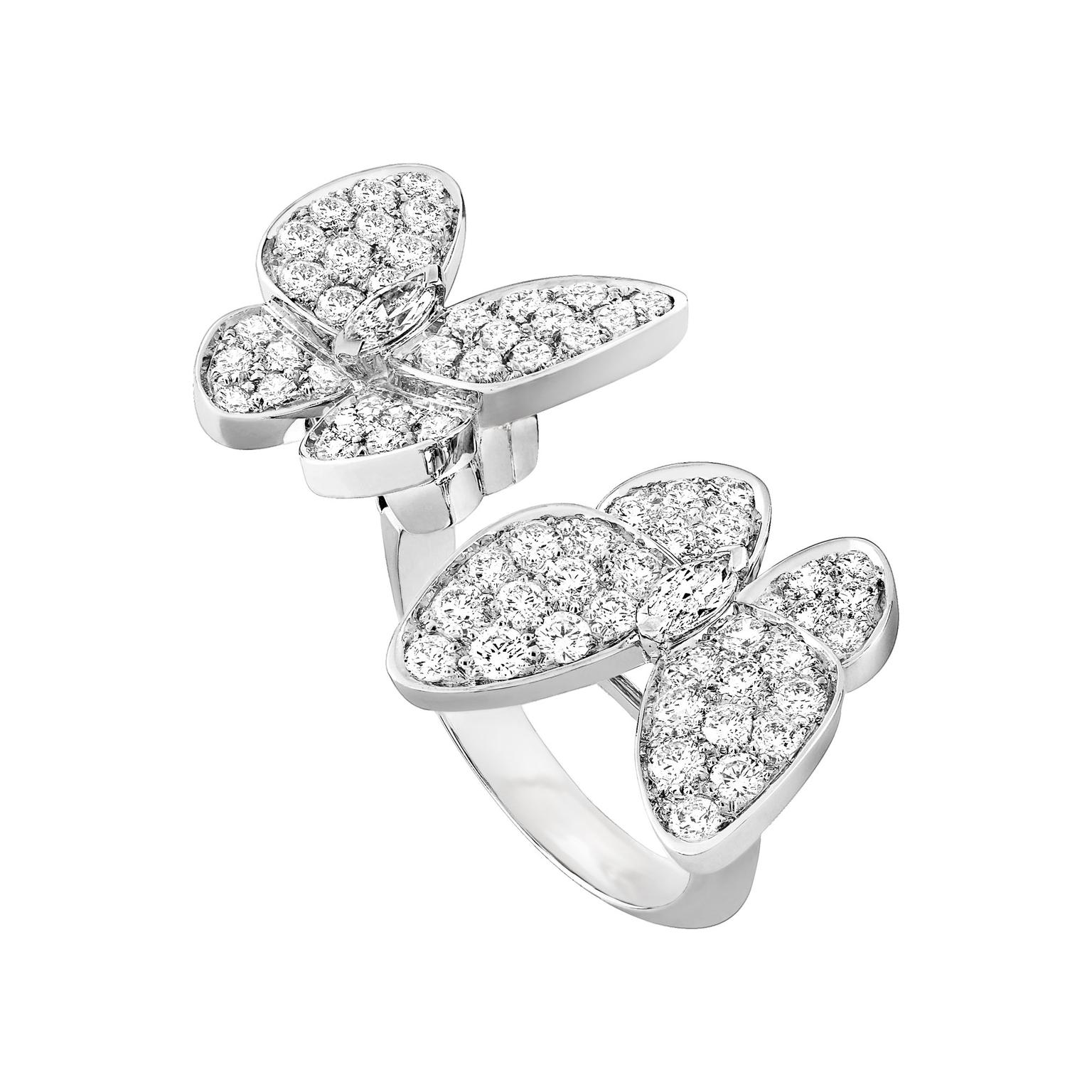 Van Cleef & Arpels diamond butterfly ring