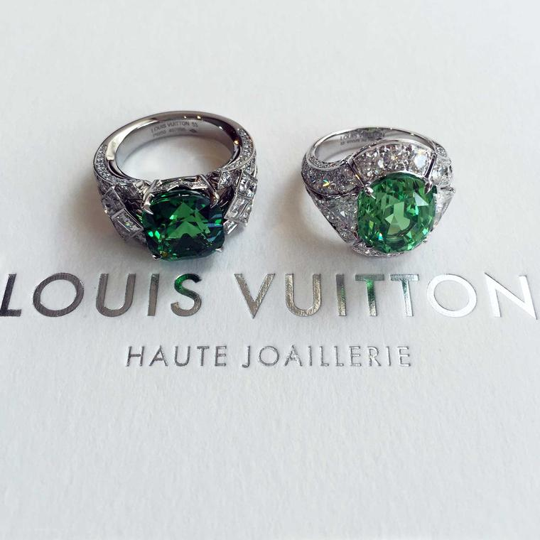 Louis Vuitton Blossom high jewellery tsavorite rings