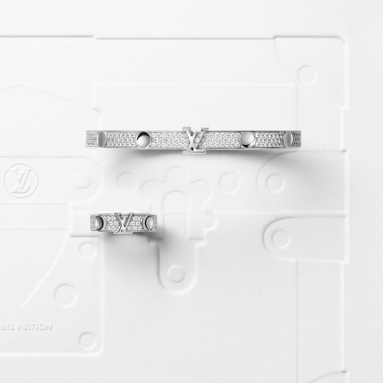 Louis Vuitton Empreinte white and diamonds rings and bangles