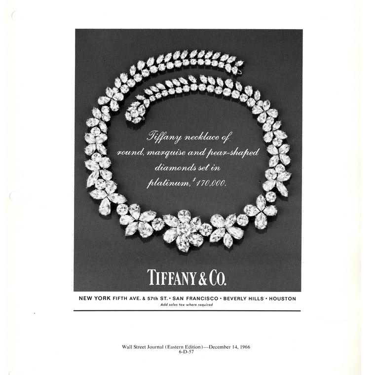 Tiffany Advertisment 1966 Wall Street Journal