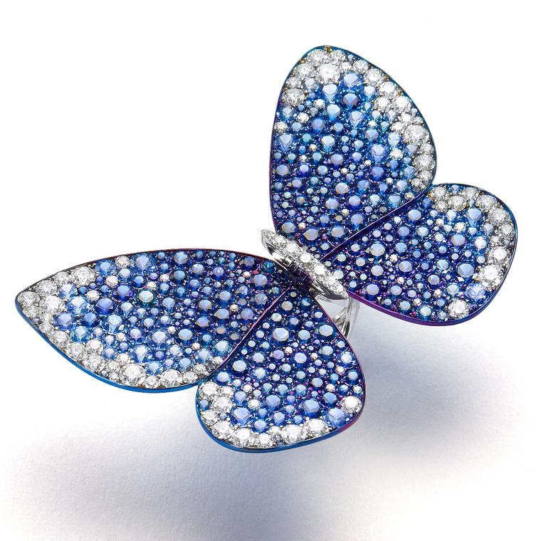 Glenn Spiro's sapphire butterfly ring is exclusive to Harrods