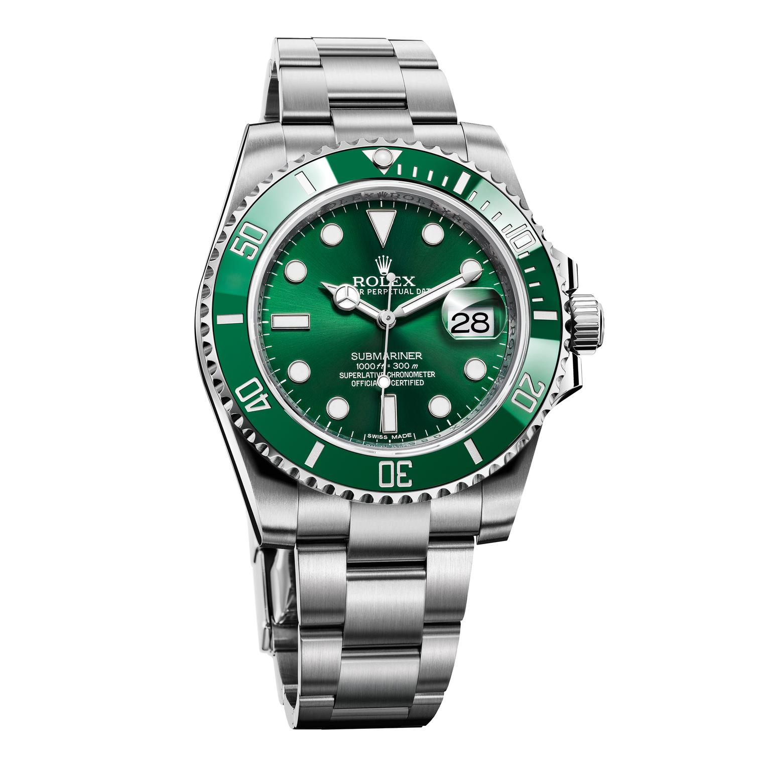 Rolex Submariner green ceramic watch