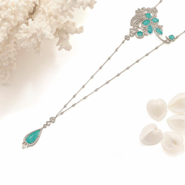 Boodles Atlantic blue Paraiba tourmaline necklace
