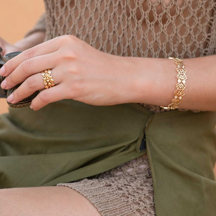 Julien Riad Sahyoun Babylon Stacking rings and bracelet