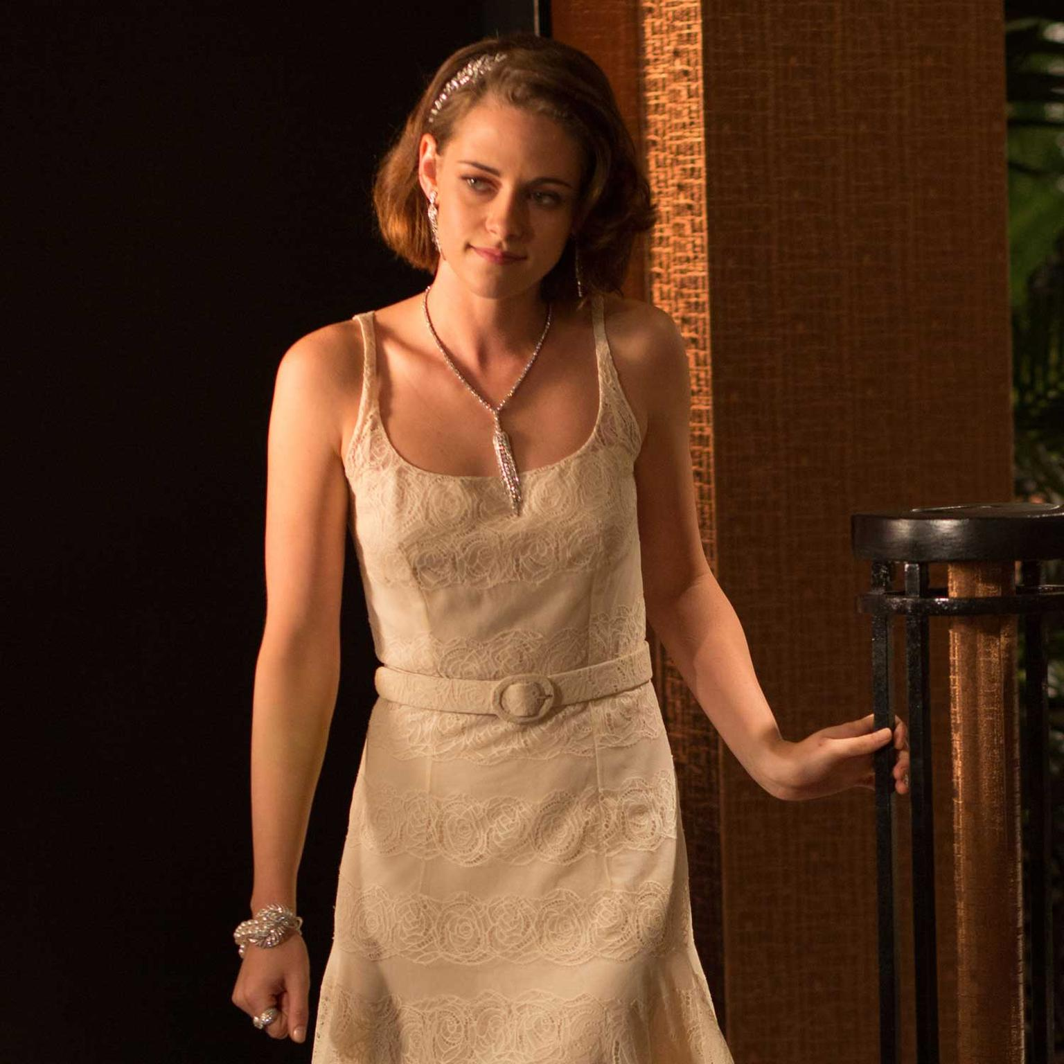 Kristen Stewart makes an entrance in Café Society in Chanel diamond jewellery