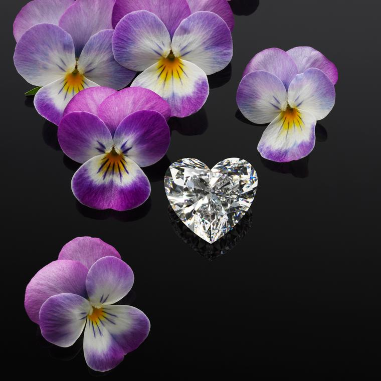 Heart-shape diamond cut from the Garden of Kalahari by Chopard