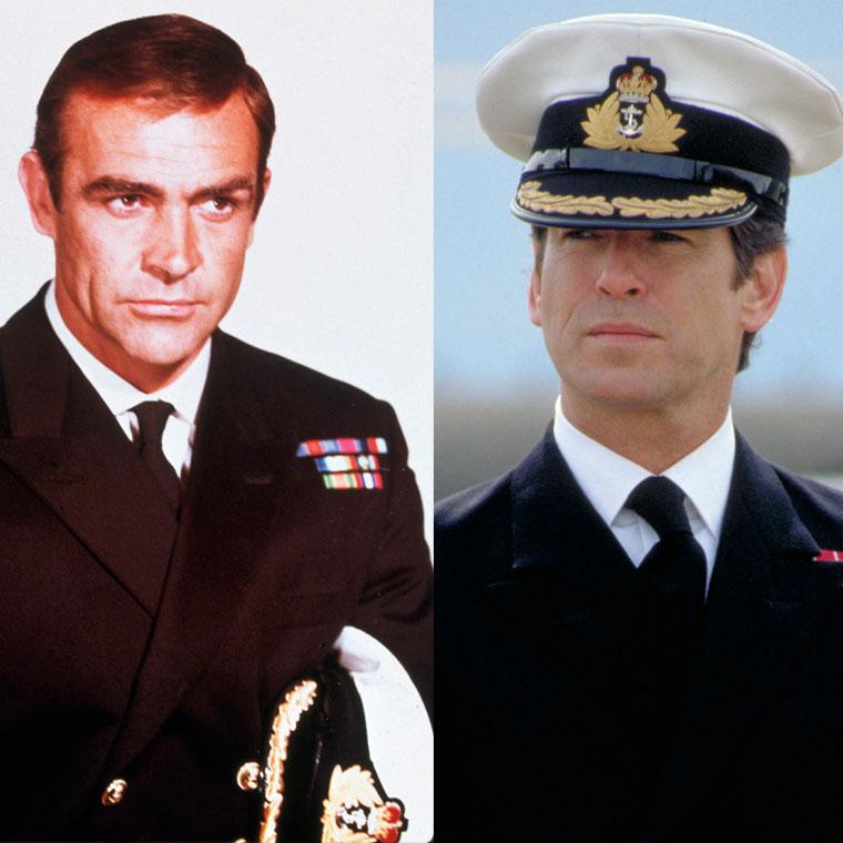 Sean Connery and Pierce Brosnan as James Bond