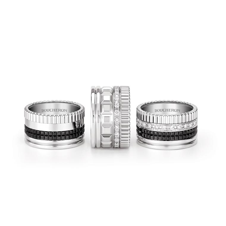Boucheron Quatre Black Edition rings