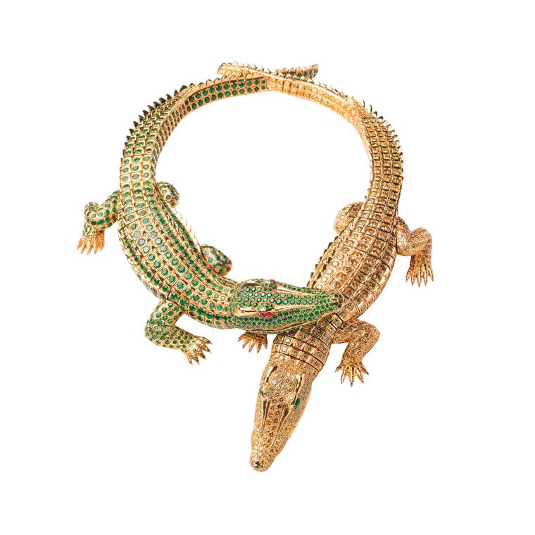 Maria Felix's Cartier crocodile necklace 1975