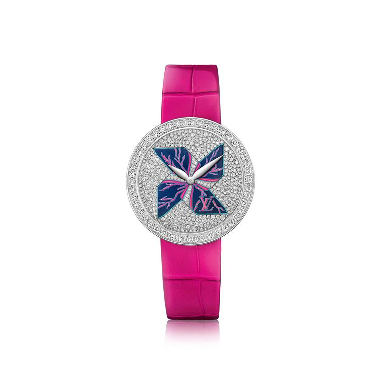 Louis Vuitton Cruise Ramage fuschia watch