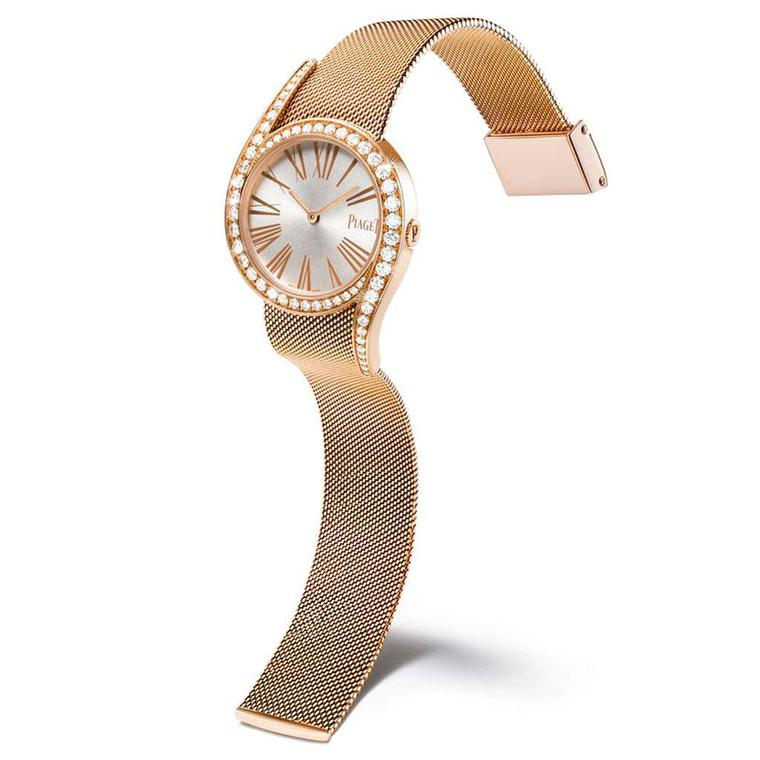 Limelight Gala Milanese 32mm watch in pink gold