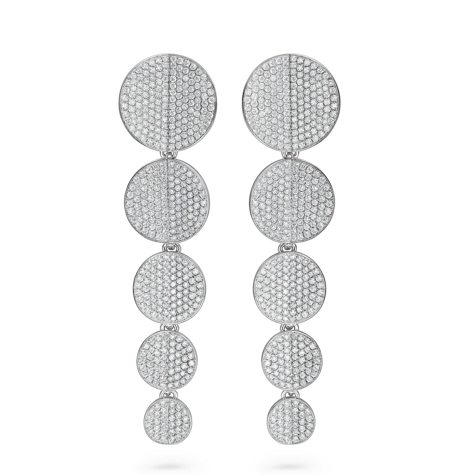 Bucherer B Dimension drop earrings with diamonds in white gold Price £14000