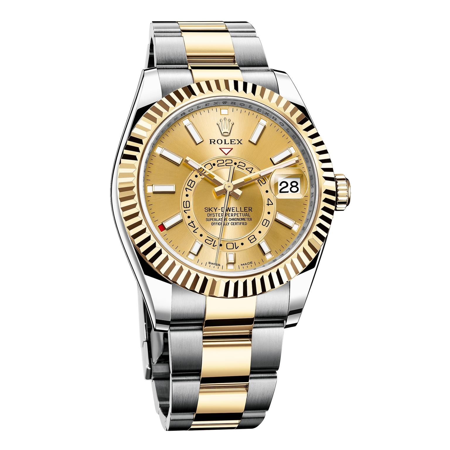 Rolex Sky-Dweller yellow Rolesor watch