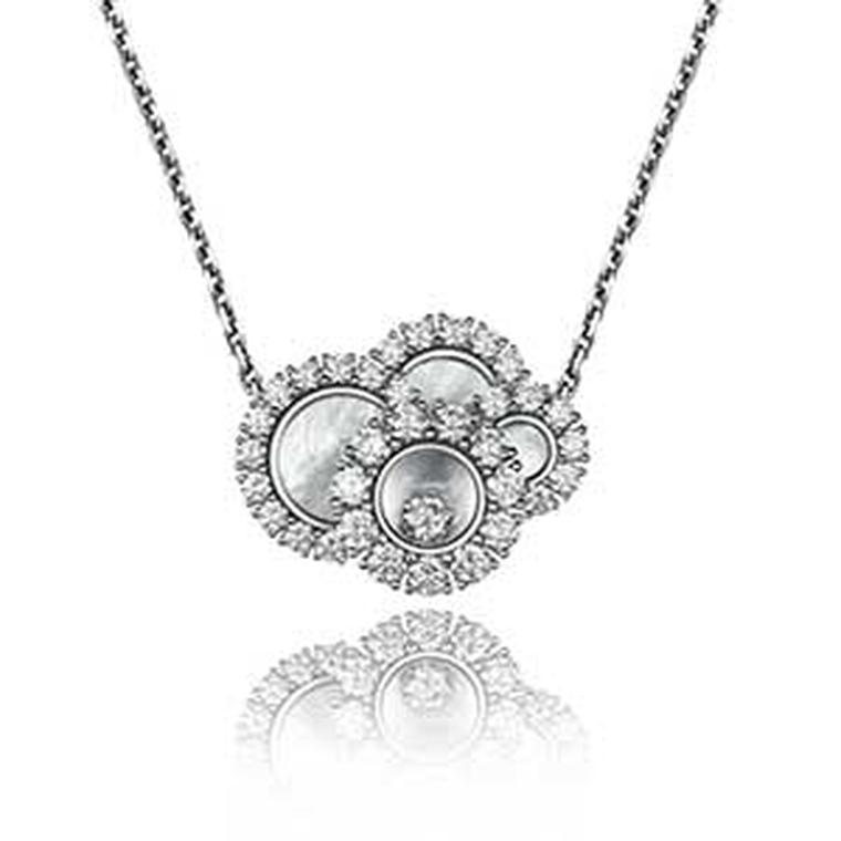 Chopard Happy Dreams mother of pearl and diamond necklace