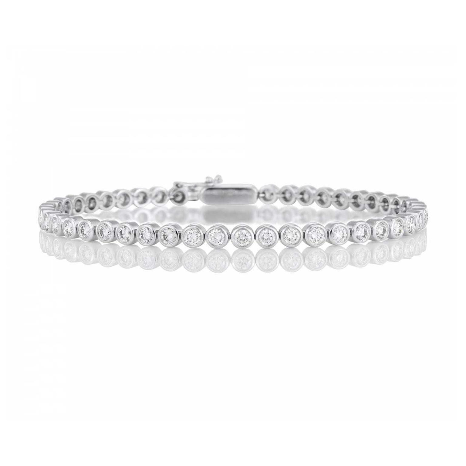 modern adn platinum adjustable and adjust diamond eternity bracelet products length