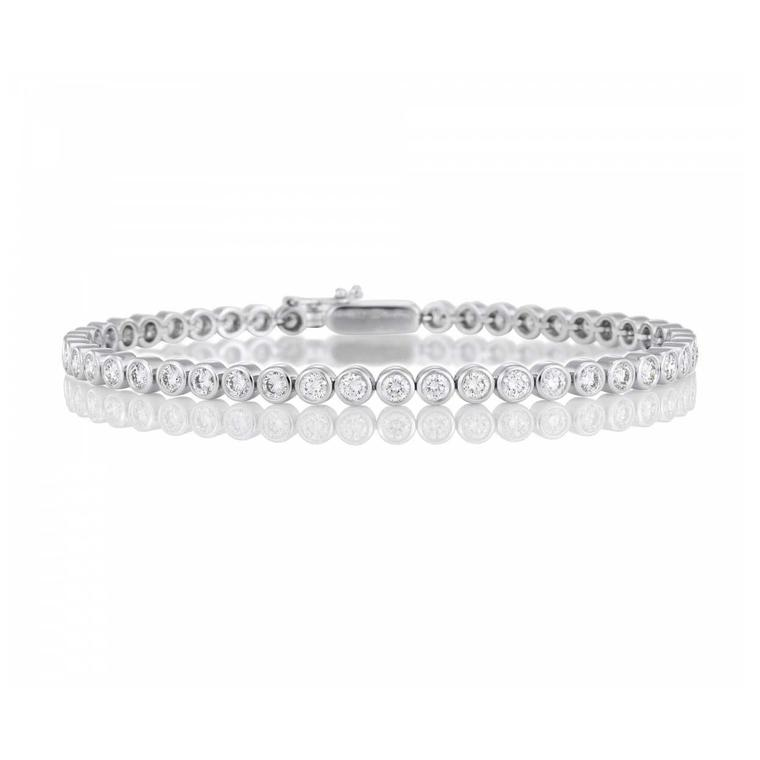 De Beers eternity bezel-set diamond bracelet