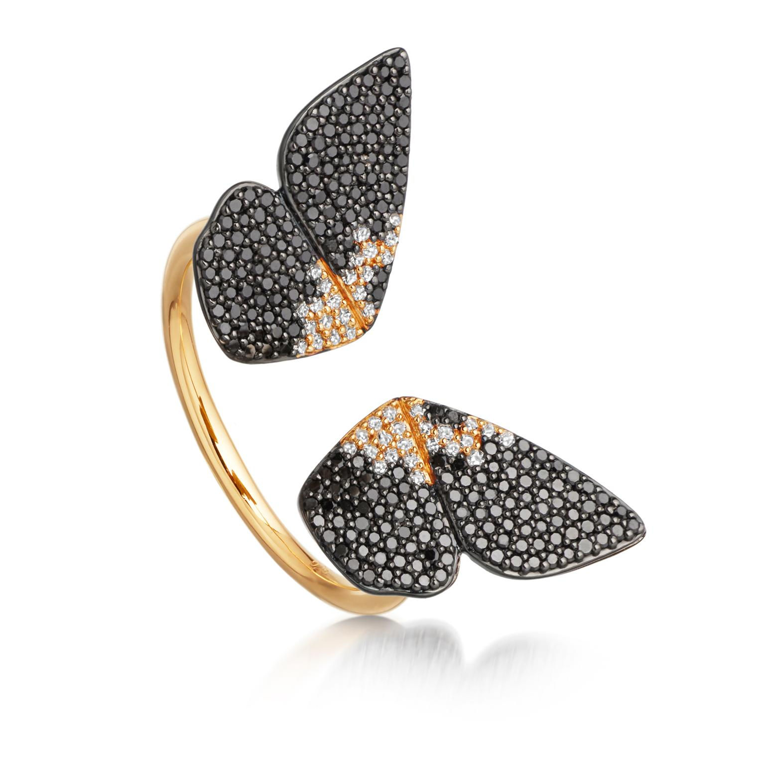 Astley Clarke Phototaxis Magpie Moth wings ring