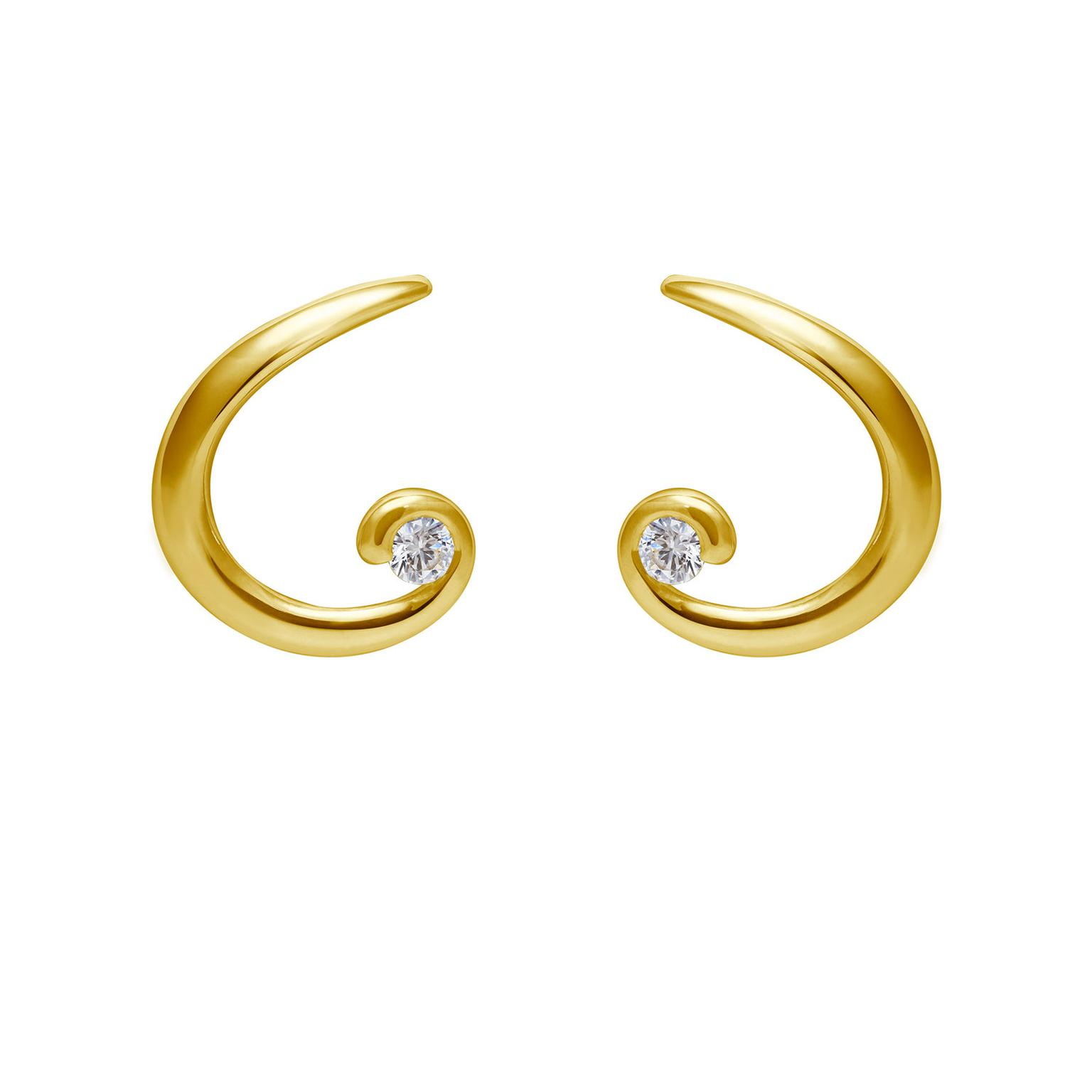 Arctic Circle gold earrings with Canadian diamonds