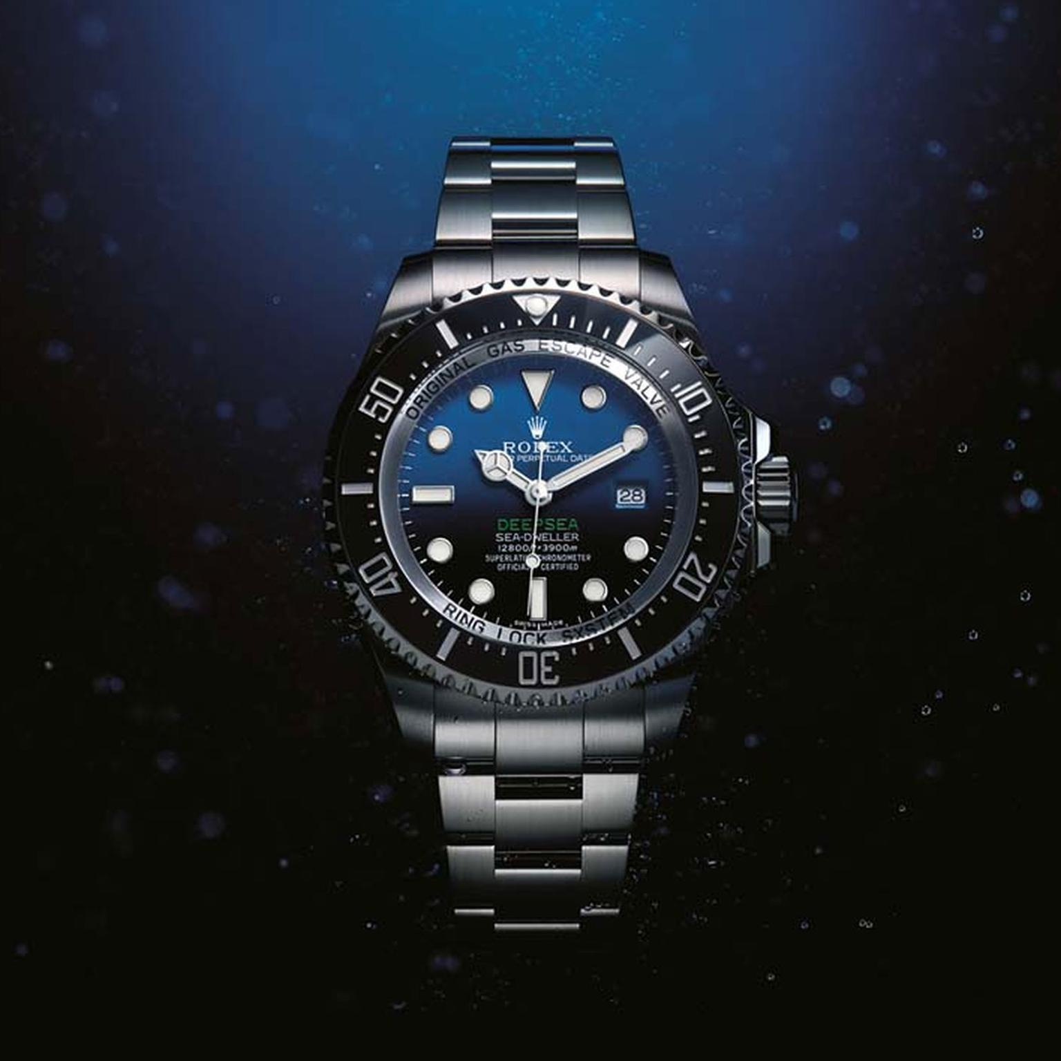 Rolex Deepsea D-Blue dive watch with a symbolic dial