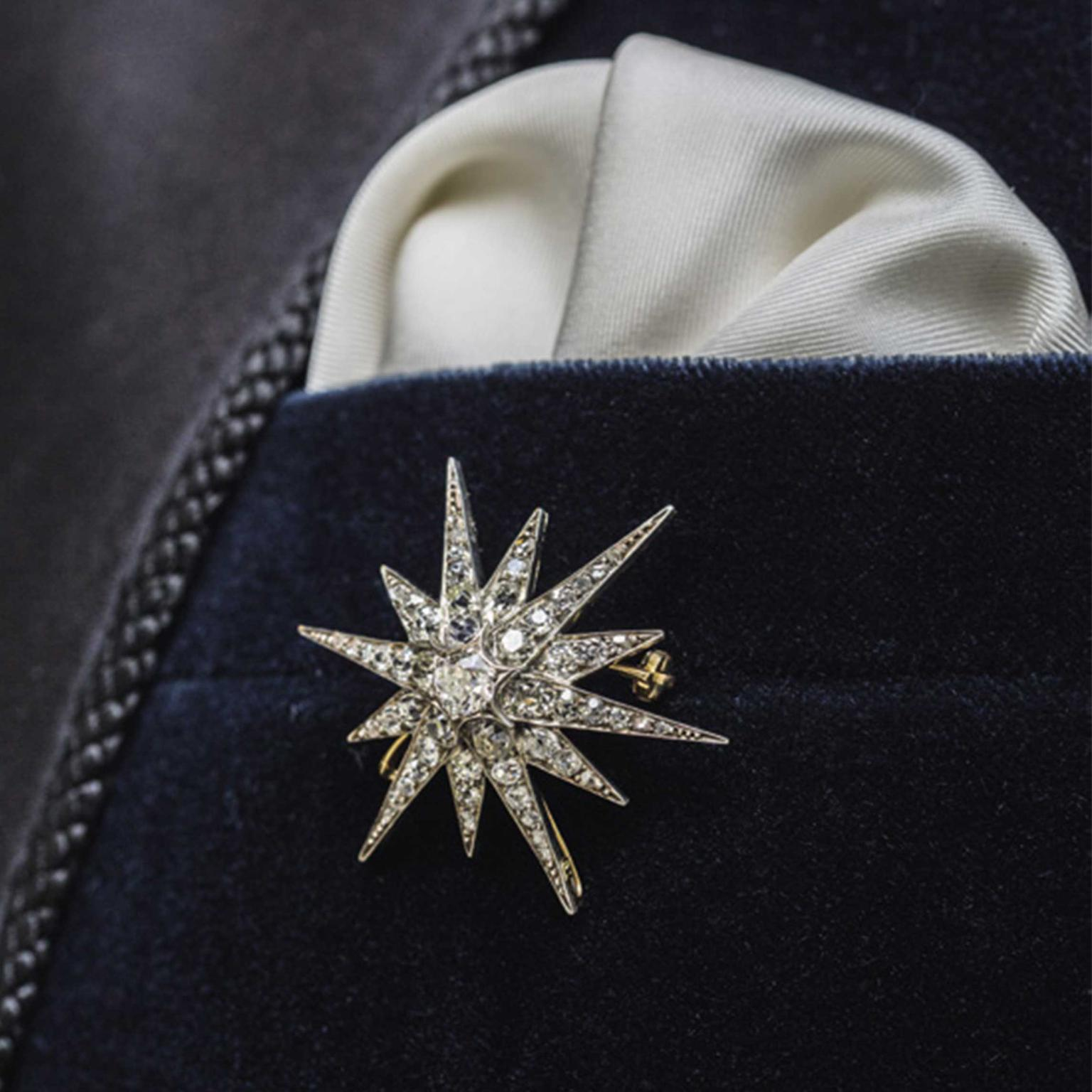 Bentley Skinner Victorian diamond star brooch