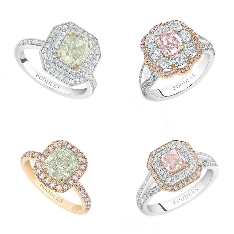 Head to Boodles for a rainbow of coloured diamonds