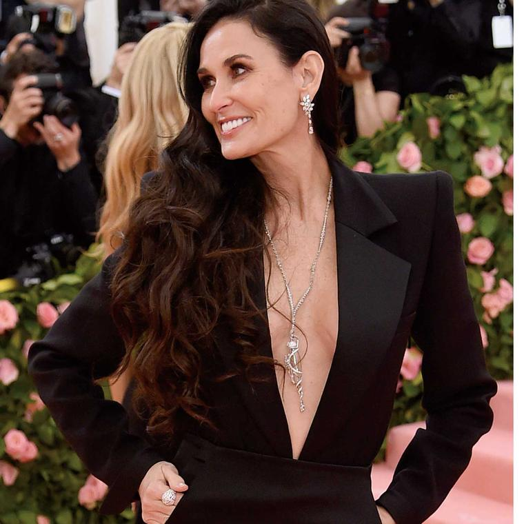 Demi Moore in Harry Winston jewels Met Gala 2019 Getty Images