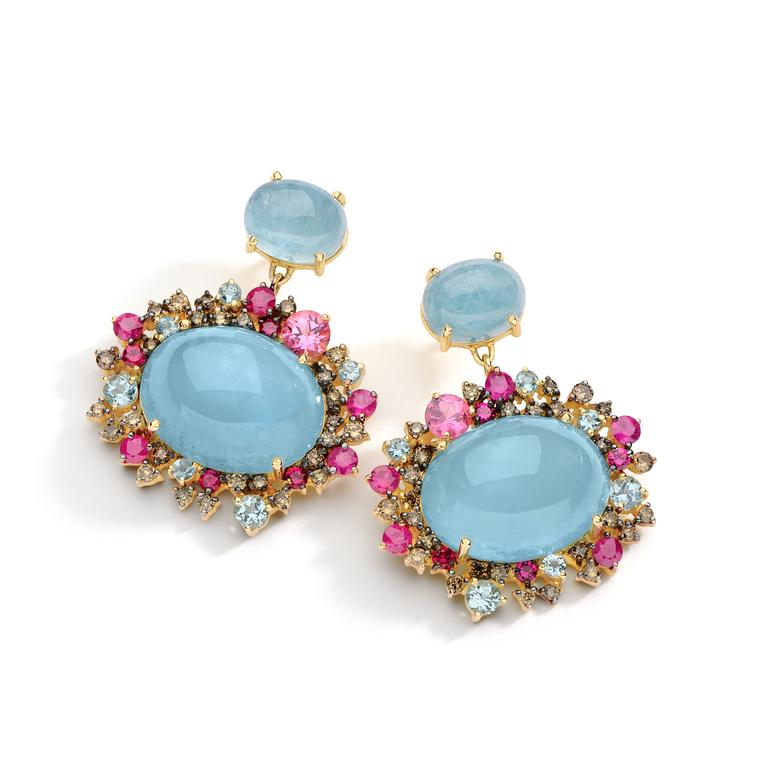 Brumani Baobob Baobab aquamarine earrings