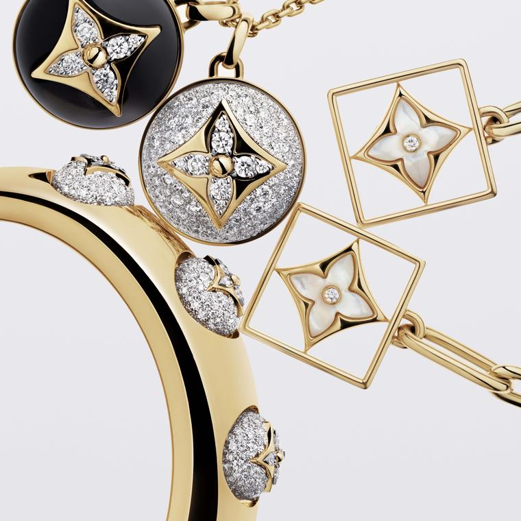 Louis Vuitton B Blossom cuff, earrings and necklace