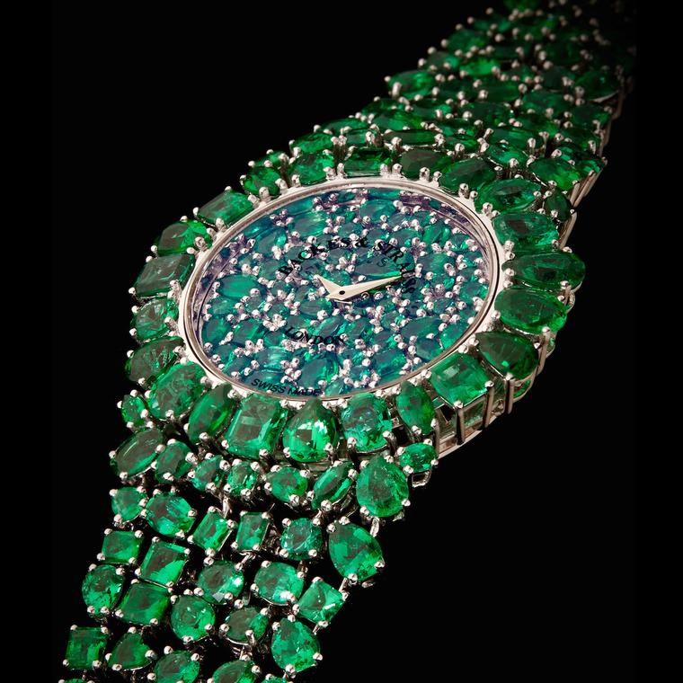 Backes & Strauss The Piccadilly Princess Royal African emerald watch
