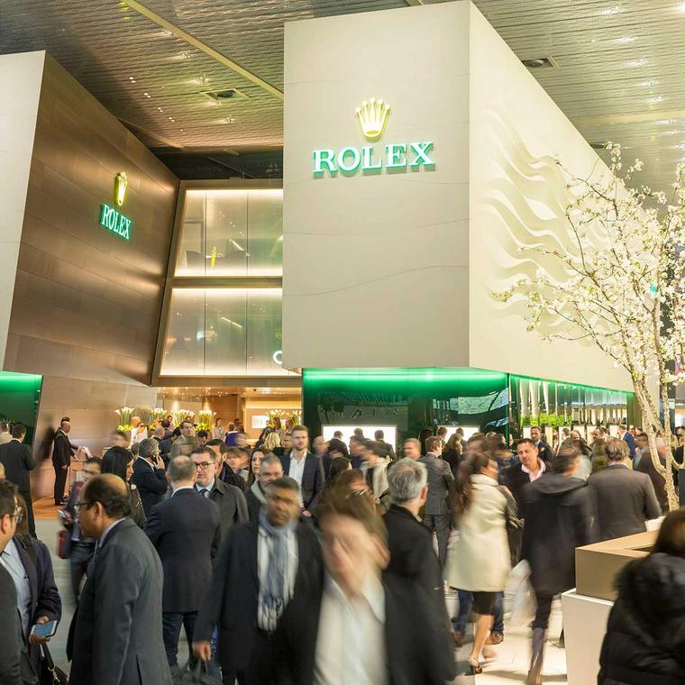 Baselworld Rolex stand