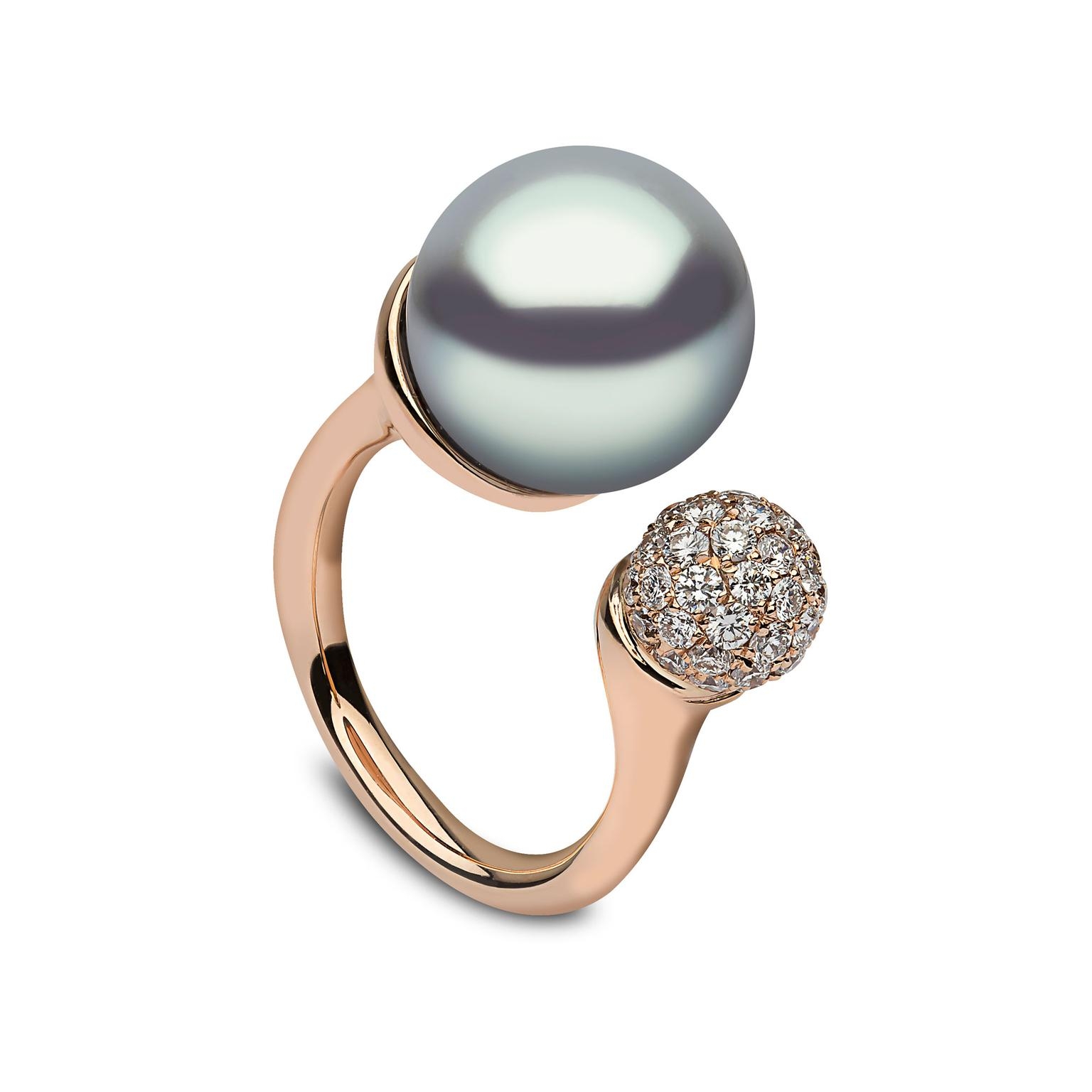 YOKO London Tahitian pearl ring