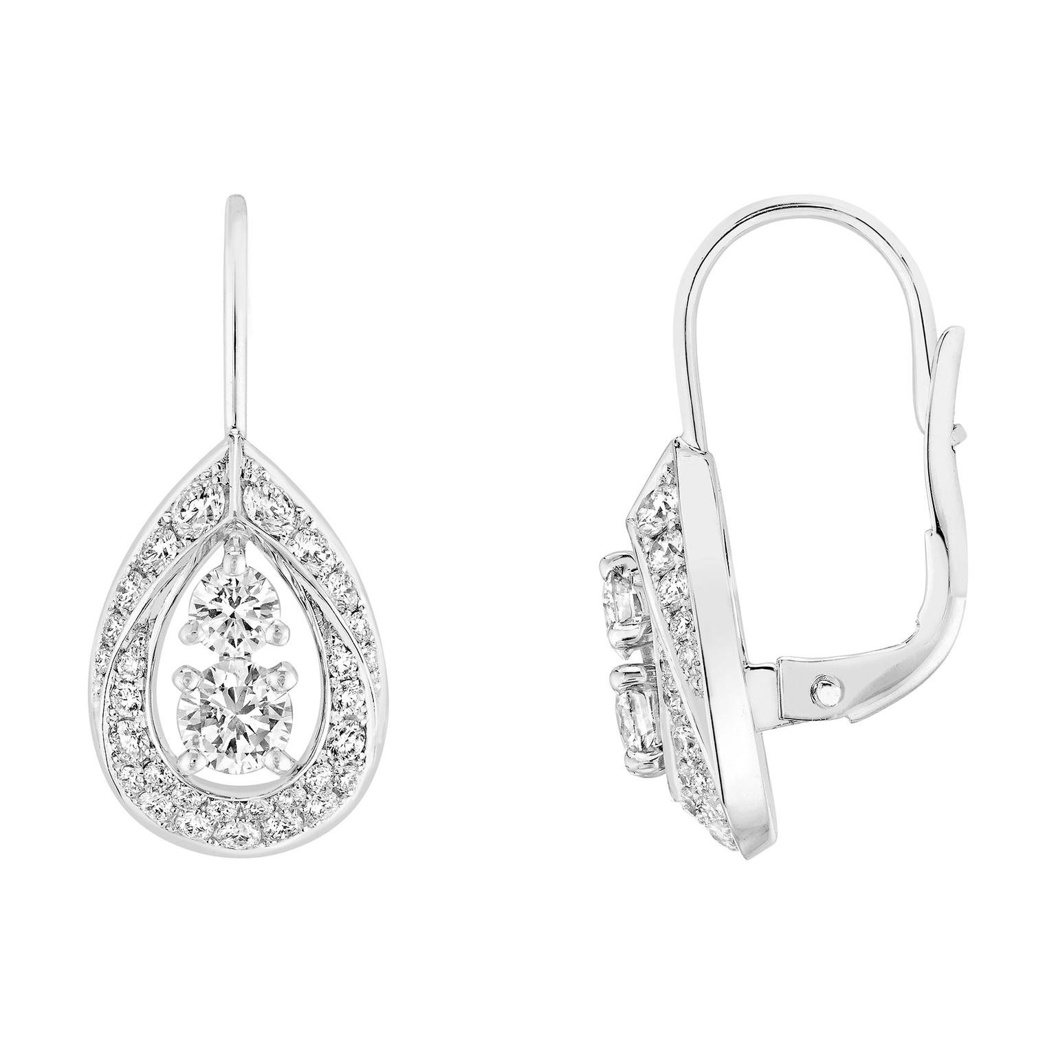 Chaumet Toi & Moi Joséphine Rondes des Nuit earrings in white gold with diamonds