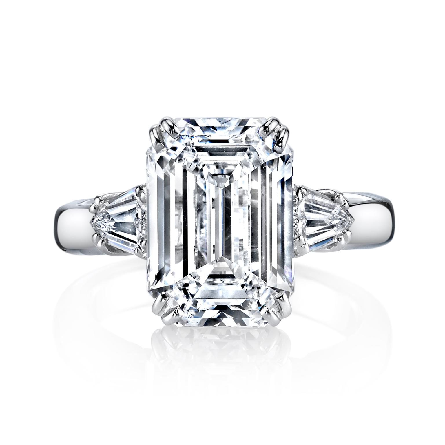 Harry Kotlar emerald-cut engagement ring