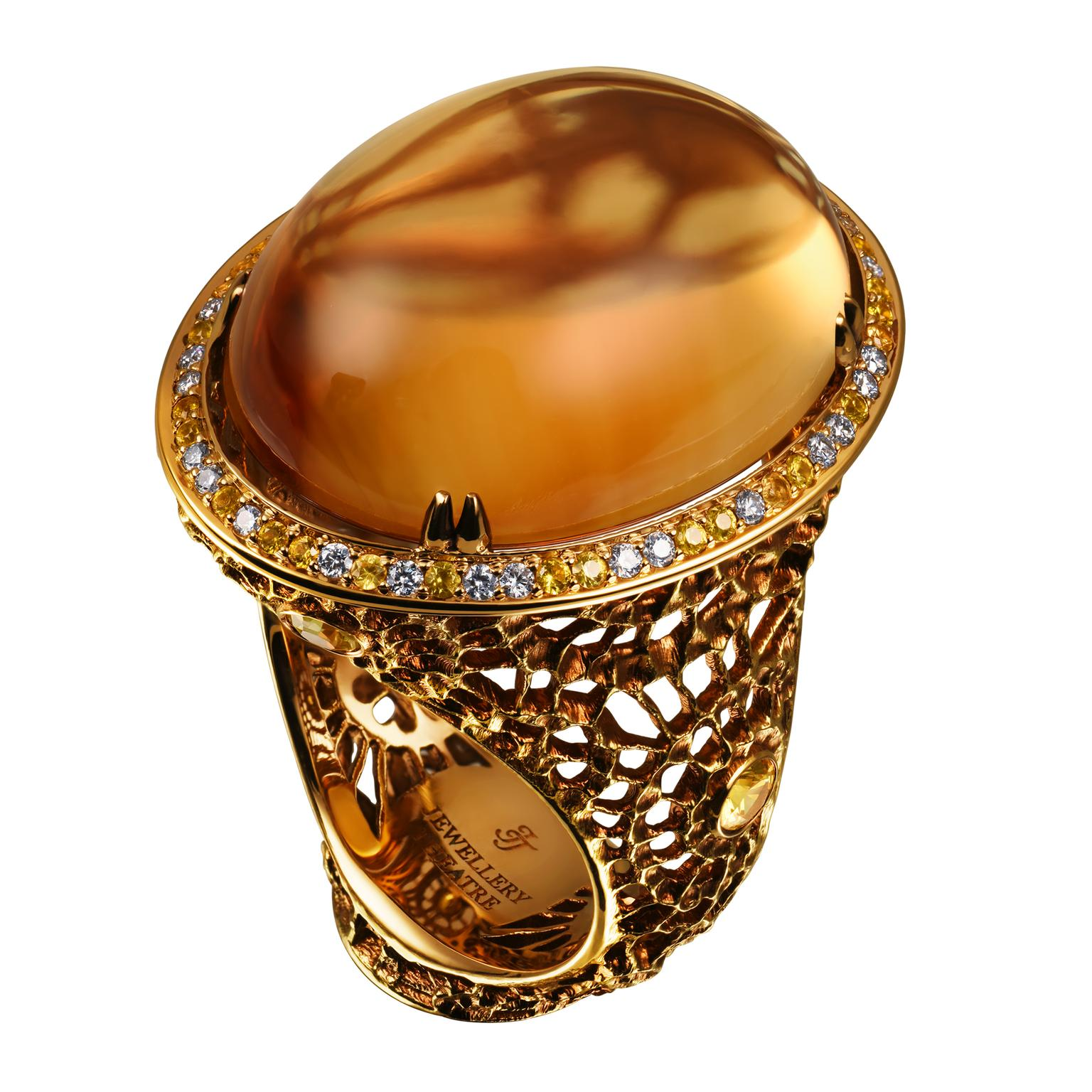 Jewellery Theatre citirine cocktail ring