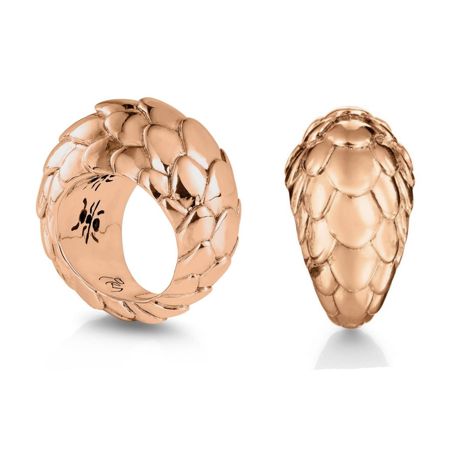 Patrick Mavros Pangolin rose gold ring