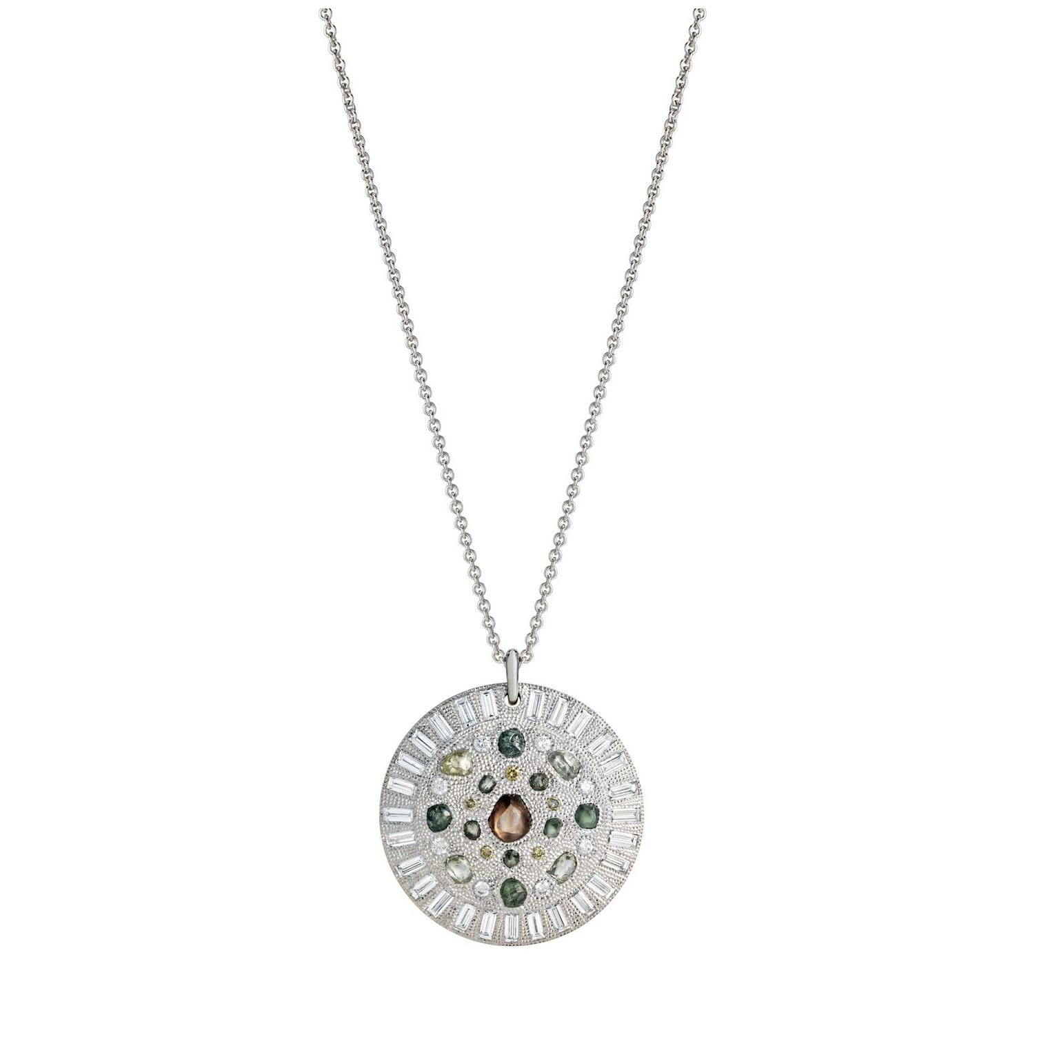 De Beers Talisman rough diamond medallion