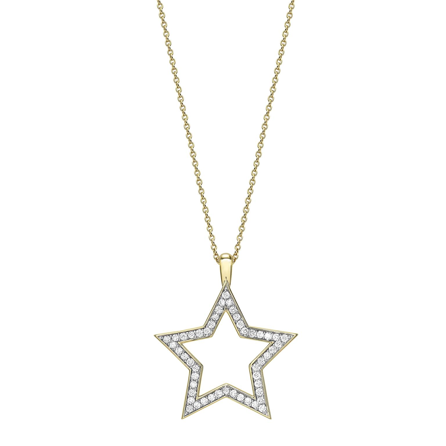 Theo Fennell Star pendant yellow gold and diamonds
