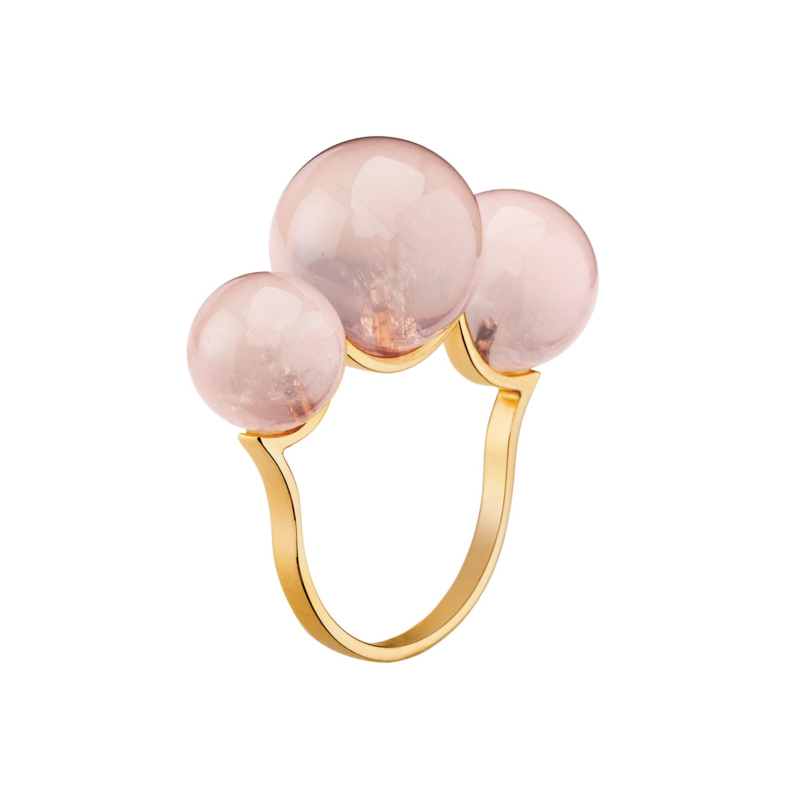 Mimata Empress rose quartz ring