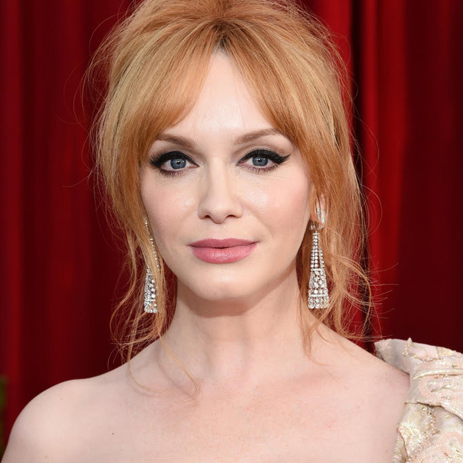 Christina Hendricks wearing Butani red carpet jewelry