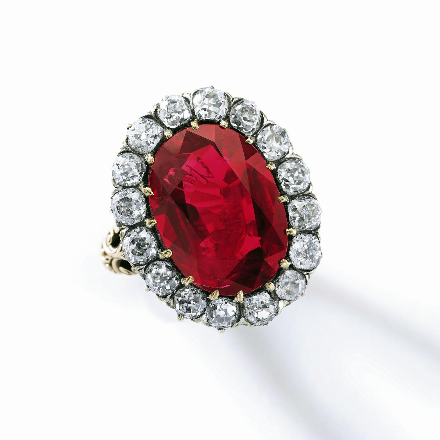 Sotheby's Geneva auction of the Queen Maria José Ruby Ring