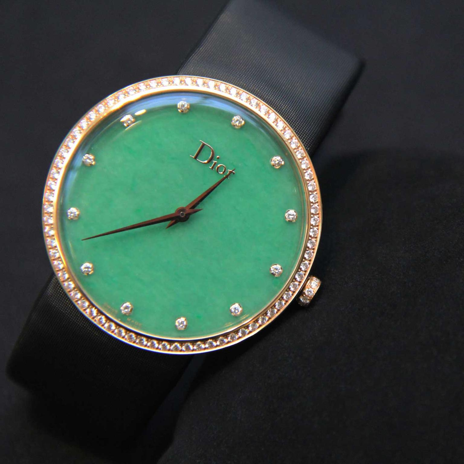La D de Dior watch with jade dial