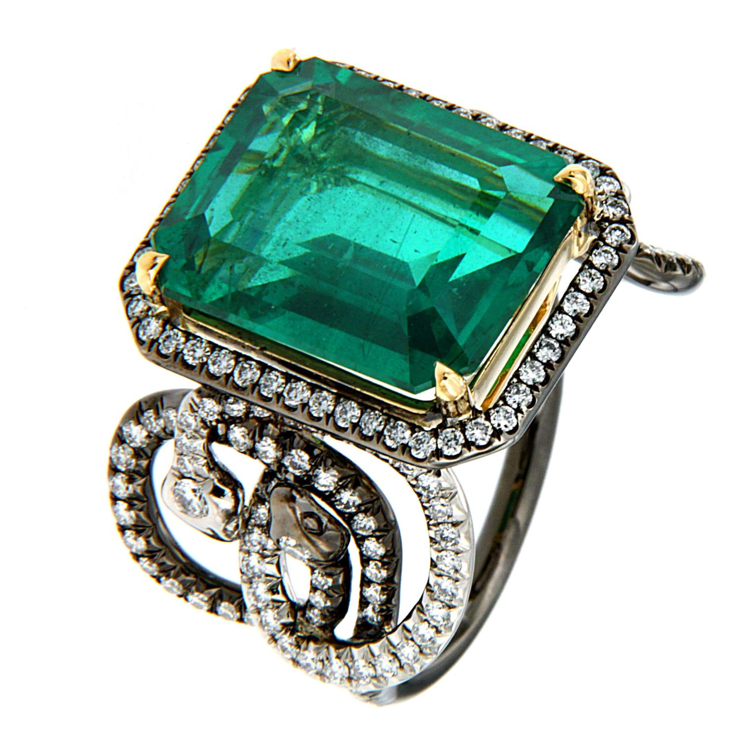 emerald kwon dew round and stone strand jennie products ring