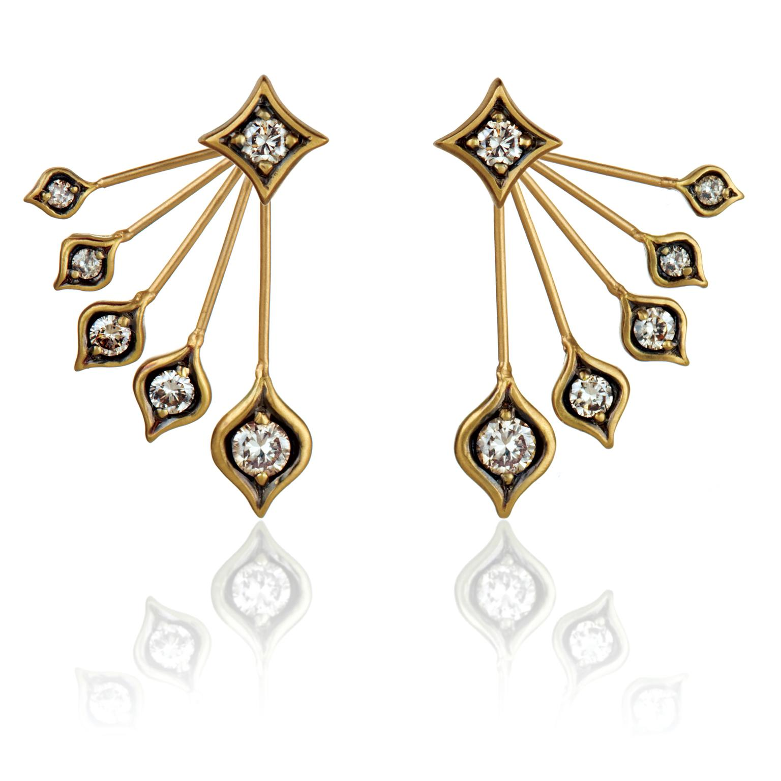Anahita Peacock diamond earrings