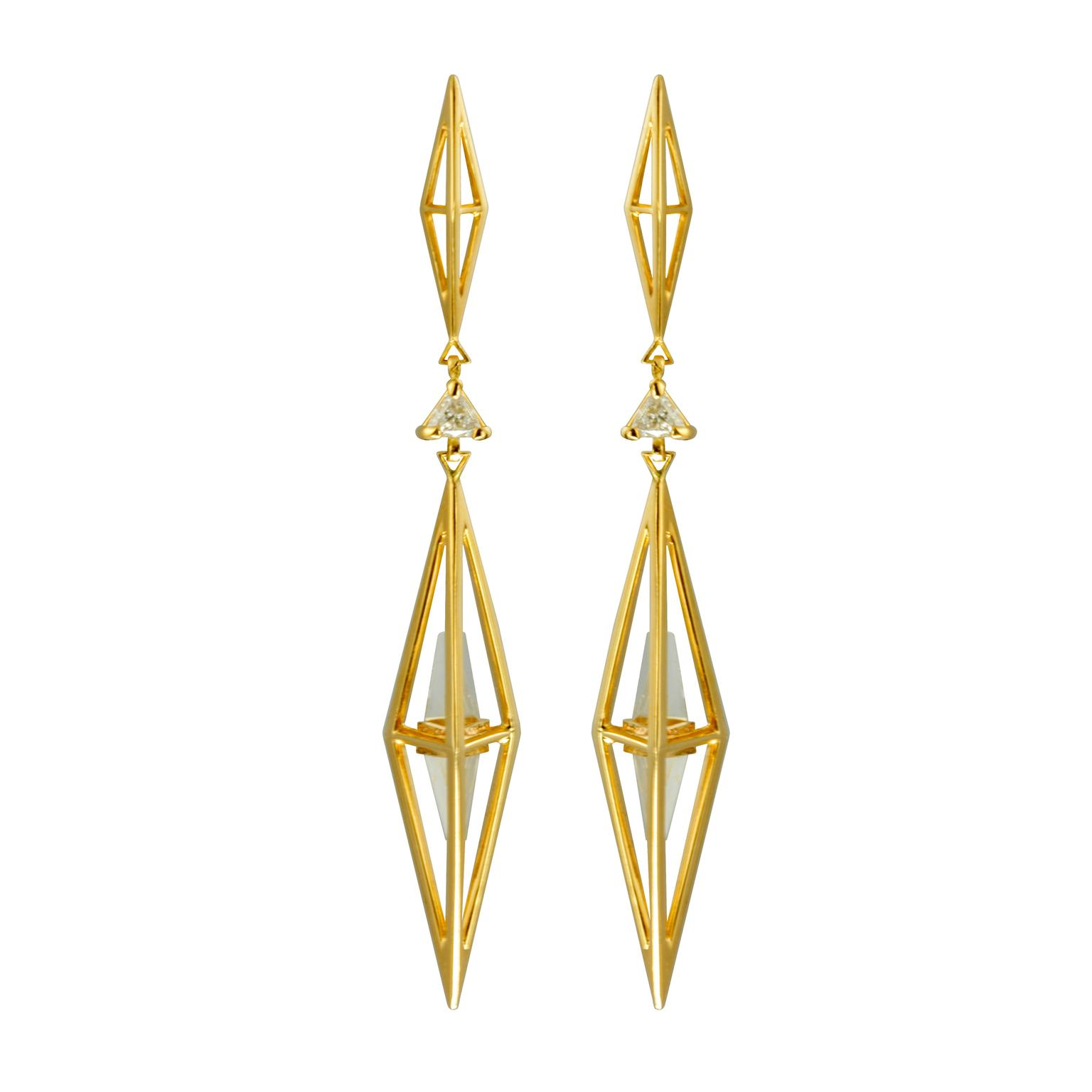 KATTRI Large Tetrahedron earrings