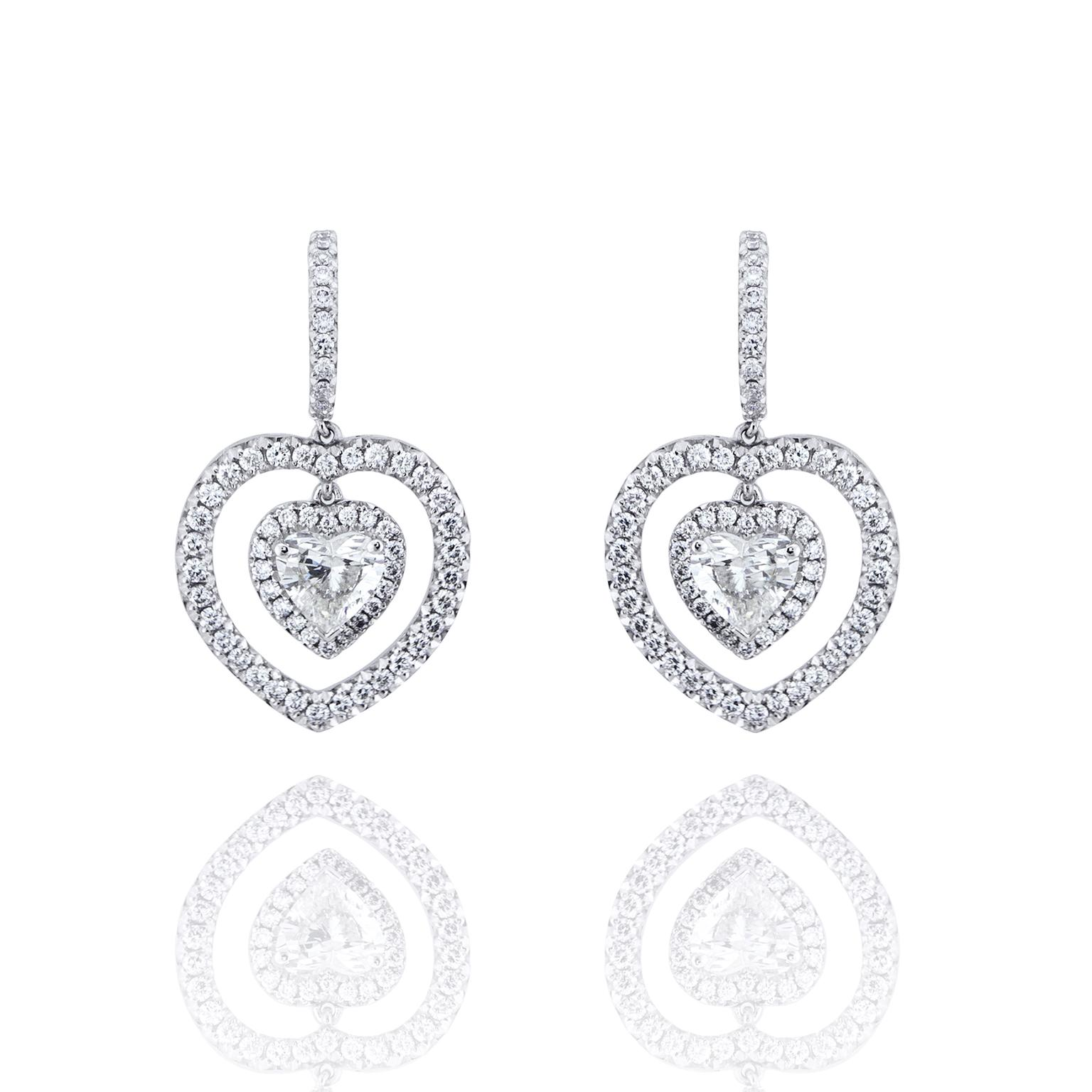 Boodles diamond heart earrings