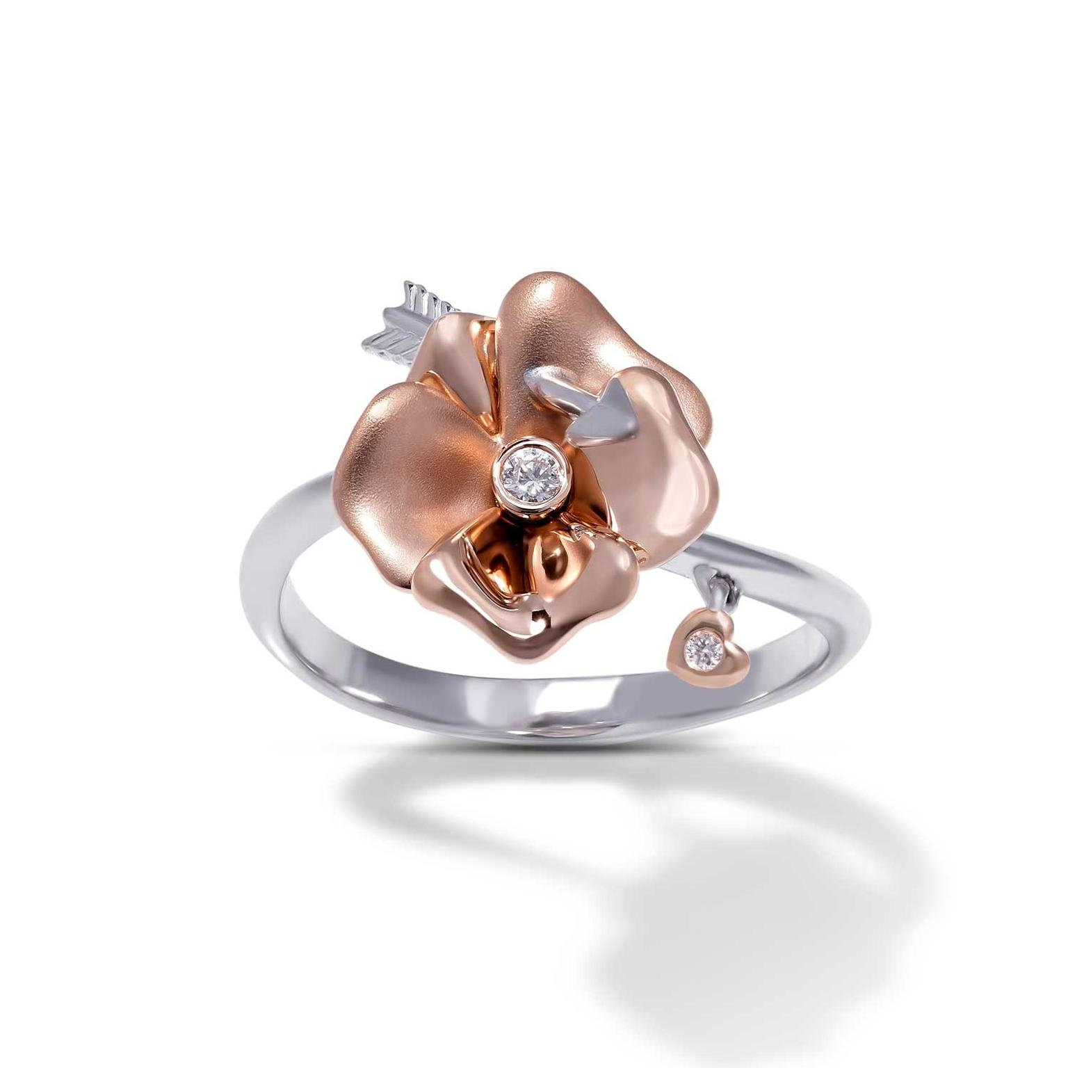 Stenzhorn Cupid's Potion rose gold and diamond ring