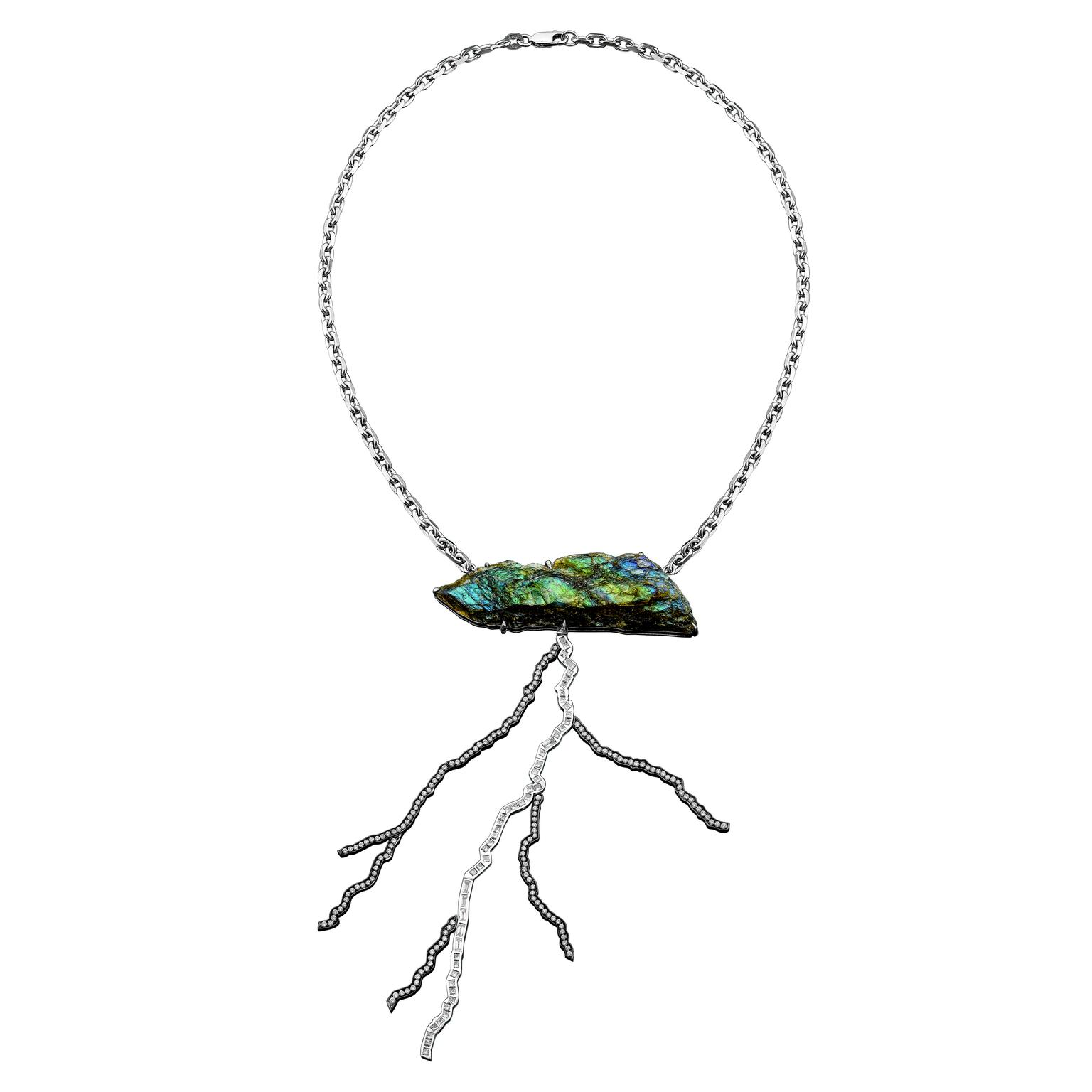 Solange Azagury-Partridge Storm Labradorite Necklace